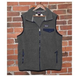 NWOT Patagonia Synchilla Gray Fleece VEST w Brand